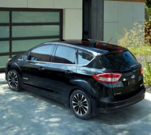 C Max Hybrid Anium In Blue Metallic The Available Panoramic Fixed Gl Vista Roof Shown Shadow Black With Sync 3